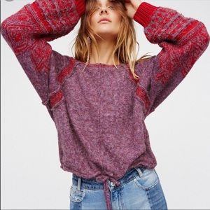 NWOT Free People Hidden Valley Pullover Sweater